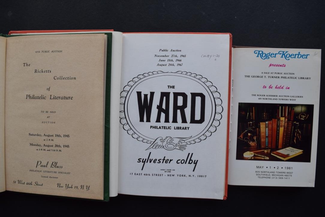 Catalogue Ward Ricketts Turner Philatelic Library