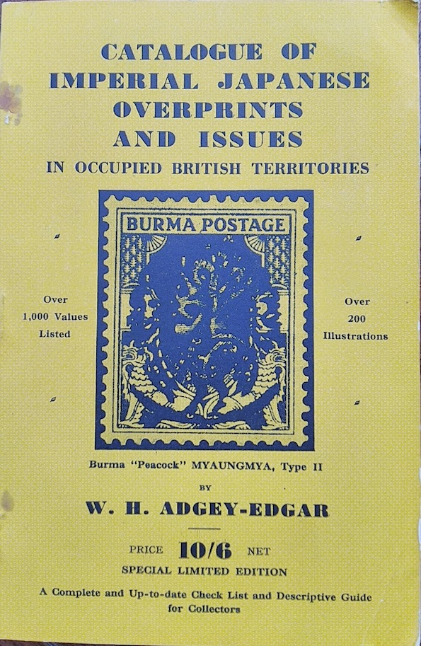 India Used Abroad Catalogue Japanese Overprints Adgey Edgar