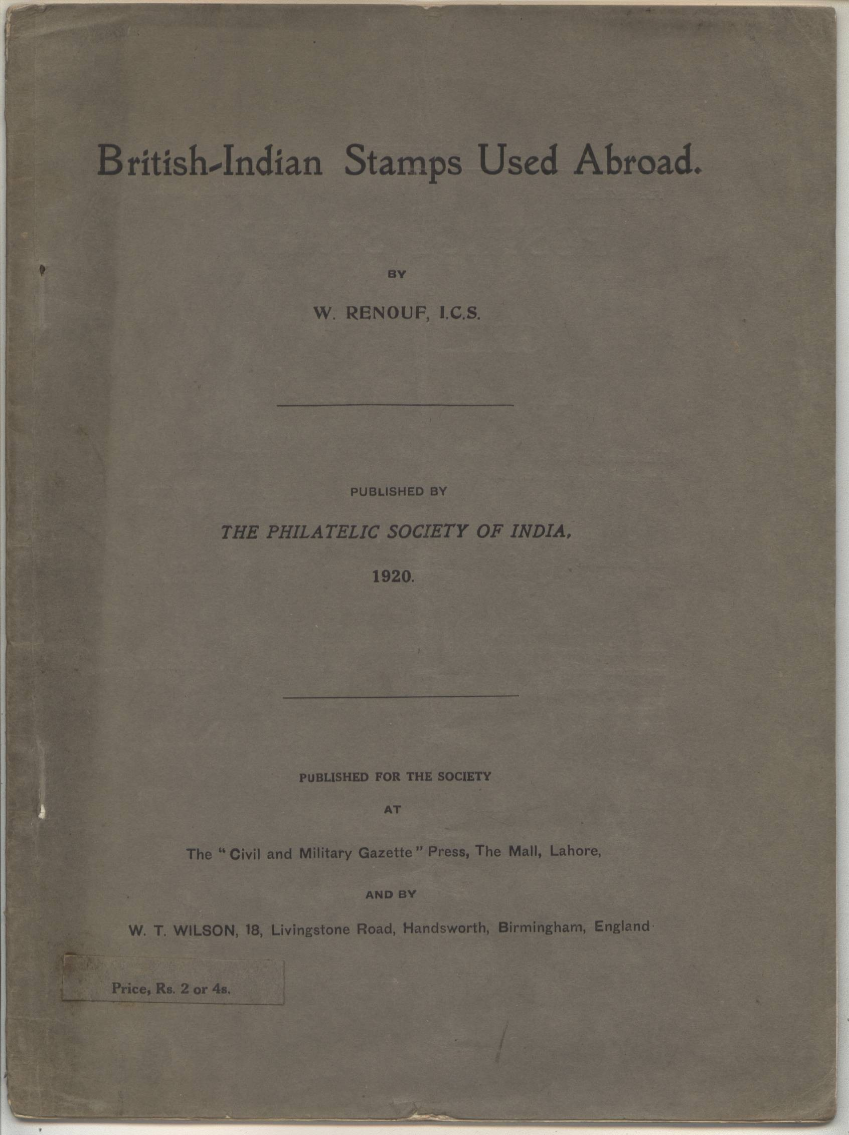 India Used Abroad W. Renouf Main