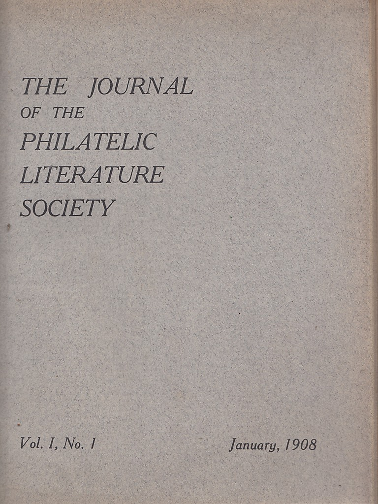 Journal Journal of the Philatelic Literature Society Cover
