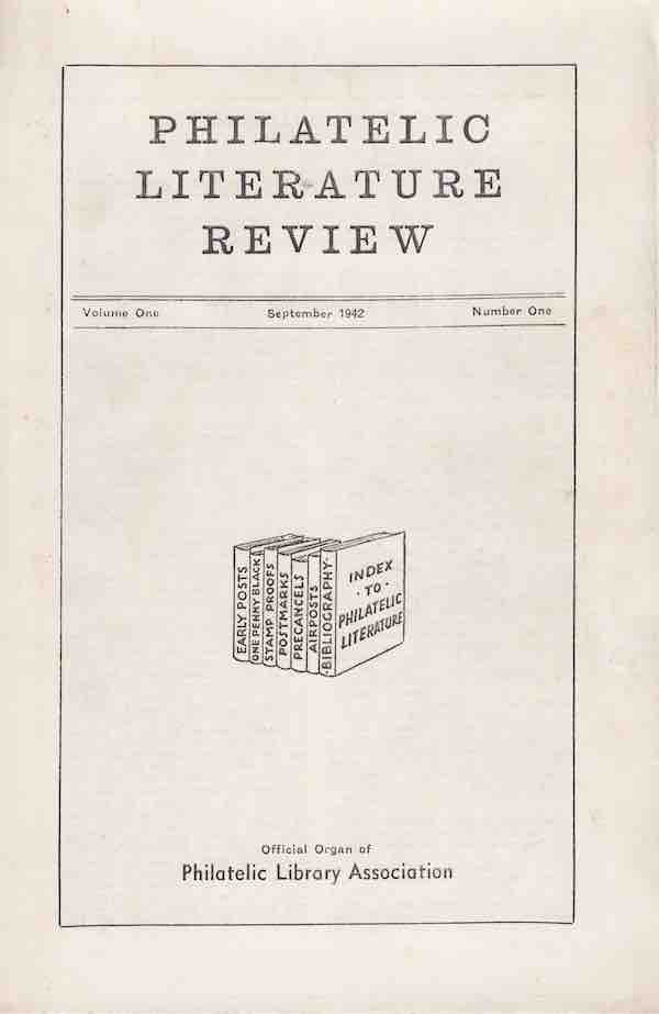 Journal Philatelic Literature Review Cover