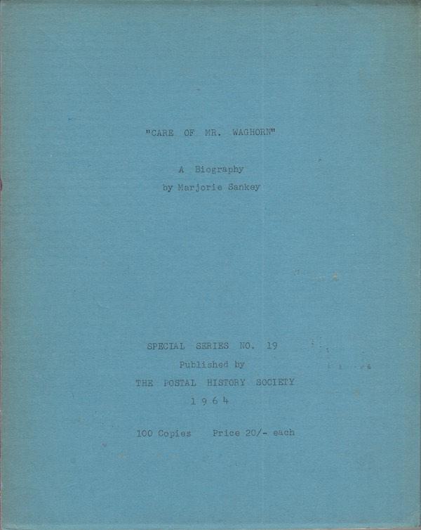 Maritime Care of Mr Waghorn Marjorie Sankey