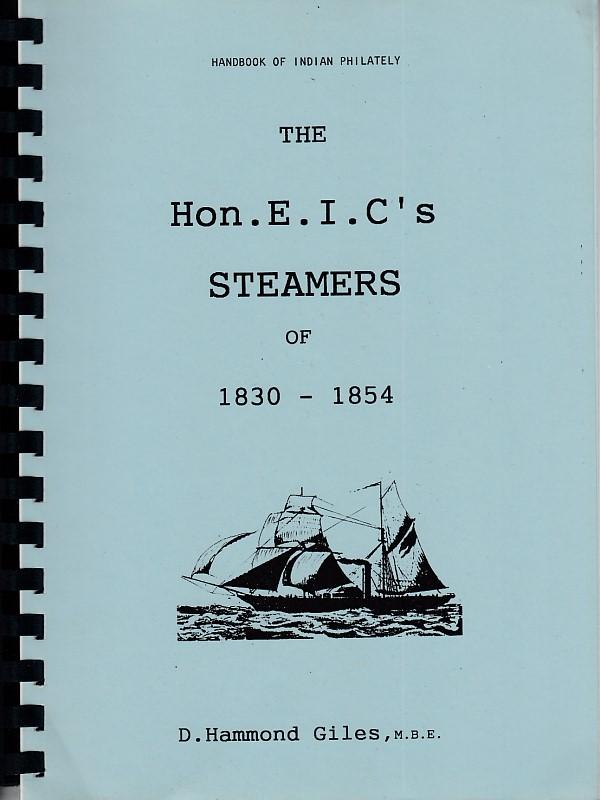 Maritime Hon. E.I.C. Steamers 1830 1854 Hammond Giles