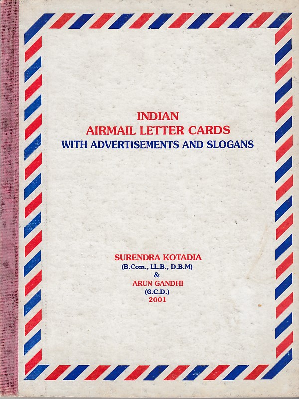 Stationery Airmail Letter Cards Surendra Kotadia Arun Gandhi
